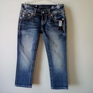 🆕Miss me jeans signature cuffed capri Sz 24